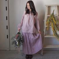 裏付きギャザースカート 手染め ピンク 【web価格】