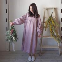草笛ワンピース 手染 ピンク【web価格】