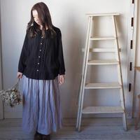 裏付きギャザースカート 手染め   薄紫 【web価格】