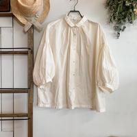 休日のブラウス 七分袖 手染 ivory【web価格】