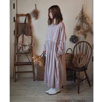 BIGシルエットワンピース / 手染 薄紫 【web価格】