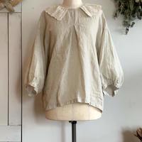 レース衿のドルマンスリーブブラウス natural 【web価格】