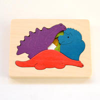 〈2才-3才〉【重なりパズル】3重パズル・恐竜(6ピース)