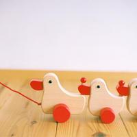 〈1才-〉【引いて歩く玩具】あひるの家族