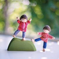 〈3才-〉【ドールハウス/人形】自在人形 男の子