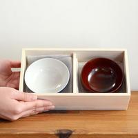 〈0才-5才〉【食器/はじめてのお茶碗&お碗】くーわん / ふーわん(小) 木箱入りセット