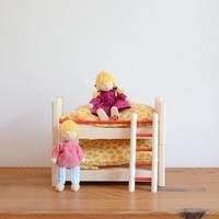【 ドールハウス/家具】〈3才-〉二段ベッド