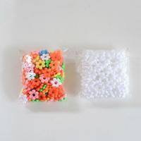 【ままごとキッチンツール】花はじき 小分け袋 カラー/白