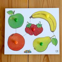 〈1才-2才〉ノブ付きパズル果物(5ピース)