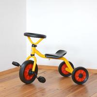 〈2才-〉【乗り物/三輪車】ウィンザー ペリカン三輪車丸ハンドル黄