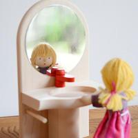 【ドールハウス/家具】〈3才-〉洗面台と鏡