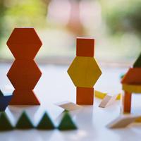 〈4才-6才〉【色・形の構成遊び】AS パターンブロック ハーフセット