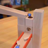 〈3才-〉【追加パーツ/玉の道づくり玩具】穴あき積木セット