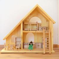 〈3才-〉【ドールハウスセット】人形の家+家具+女の子
