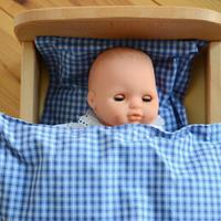 〈2才-〉【人形/プラスティック製】ソフトベビー 茶色い瞳 ピンク
