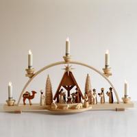 【クリスマス】アーチ型キャンドルスタンド キリスト生誕  ( ※電池式キャンドル付き )