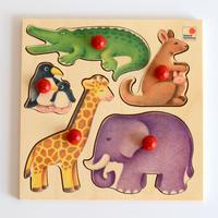 〈1才-2才〉【はじめてのパズル】グライフパズル・動物(5ピース)
