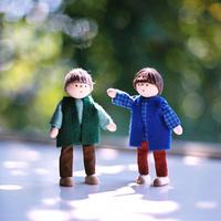 〈3才-〉【ドールハウス/人形】自在人形 父