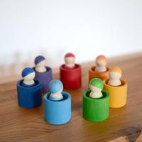 〈1才-5才〉【木製人形】虹色のこびとたち