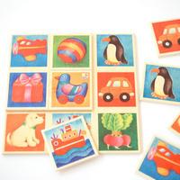 〈購入時期目安:2才〉【はじめてのゲーム】【木製ゲーム/絵合わせ】ことばカード