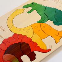 〈4才- 6才〉【重なりパズル】2重パズル・ディノサウルス(26ピース)