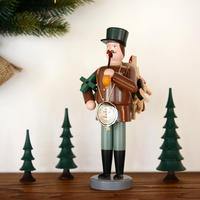 【クリスマス】煙出し人形 おもちゃの行商人(茶)