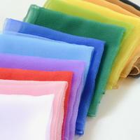 〈0才-7才〉シフォンスカーフ 12色12枚セット(白・ピンク・赤・紫・水色・青・緑・黄緑・黄色・オレンジ・茶色・黒)
