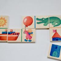 〈2才-3才〉【はじめてのゲーム】【木製ゲーム】くみあわせドミノ