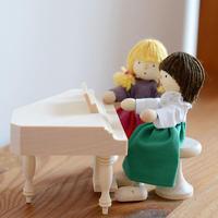 【ドールハウス/家具】〈3才-〉ピアノ(白木)