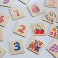 〈購入時期目安:4才〉【はじめてのゲーム】【木製ゲーム/絵合わせ】数のゲーム
