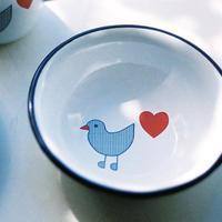 【ままごとキッチンツール】青い鳥 シリアルボウル
