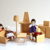 〈3才-〉【ドールハウス/家具セット】ドールハウス用 居間セット