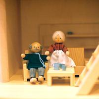 〈3才-〉【ドールハウス/人形】自在人形 おばあさん