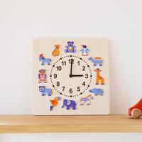 〈2才-大人〉時計 動物たち