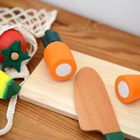 〈2才-〉【ままごと/カット野菜セット】カット野菜ミニセット マジックテープ