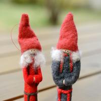 【クリスマス】森の小さな ガール レッド/グレー
