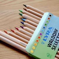 〈6才-大人〉【色鉛筆】スーパーファルビー 軸白木ヴァルドルフ12色セット