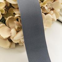 高密度グログランリボン gray  40mm