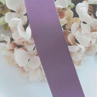 高密度グログランリボン     sick purple  40mm