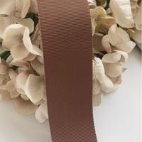 高密度グログランリボン brown  40mm