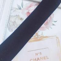 velvet ribbon 35mm  navy