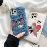 【N915】★ iPhone 11/Pro/ProMax /7/7Plus/8/8Plus/X/XS /XR/Xs max★ シェルカバーケース  Fur Tom/Jerry
