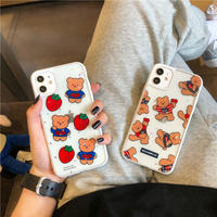 【C179】★ iPhone 11/11Pro/11ProMax/7 / 7Plus / 8 / 8Plus / X/ XS / Xr /Xsmax ★  ケース Strawberry Bear