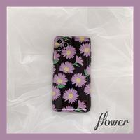 【C149】★iPhone 11/11Pro/11ProMax/7/7Plus /8/8Plus /X/XS/ XR/Xsmax ★  ケースPurple flowers