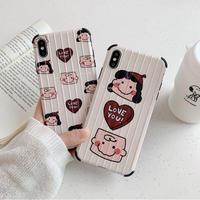 【N497】★ iPhone 6 / 6sPlus / 7 / 7Plus / 8 / 8Plus / X /XS /XR/Xs max★ シェルカバーケース New Cute ~