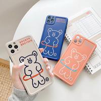 【C127】★ iPhone 11/11Pro/11ProMax/7 / 7Plus / 8 / 8Plus / X/ XS / Xr /Xsmax ★  ケース  Bear