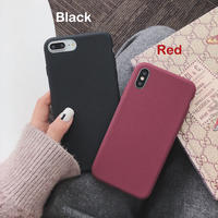 【N122】★ iPhone 6 / 6s / 6Plus / 6sPlus / 7 / 7Plus / 8 / 8Plus / X/XS ★ シェルカバー ケース Black or Red