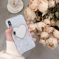 【N317】★iPhone 6 / 6s / 6Plus / 6sPlus / 7 / 7Plus / 8 / 8Plus / X / Xs ★iPhone ケース ハート ミラー