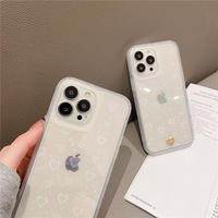 【D199】★ iPhone 13/13pro/12/12pro/11/ProMax /7/7Plus/8/8Plus/XS/XR/Xs max★ シェルカバーケース クリアケース  ハート