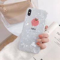 【N229】★ iPhone 6 / 6sPlus / 7 / 7Plus / 8 / 8Plus / X /XS /XR/Xs max★ シェルカバーケース  Pink Peach